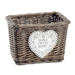 home sweet home wicker basket